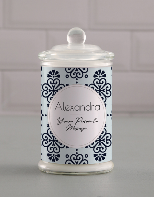 prices: Personalised Patterned Candle Jar!