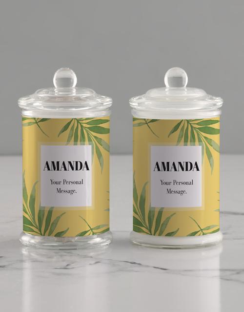 personalised: Personalised Leafy Candle Jar!