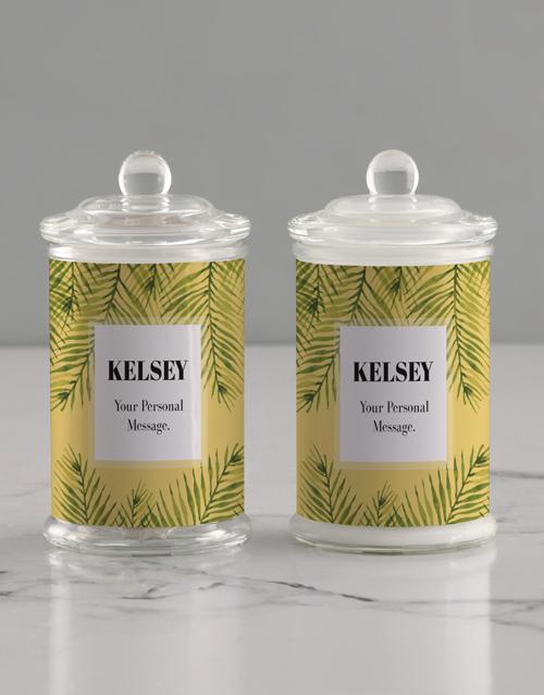 personalised: Personalised Painted Leaf Candle Jar!