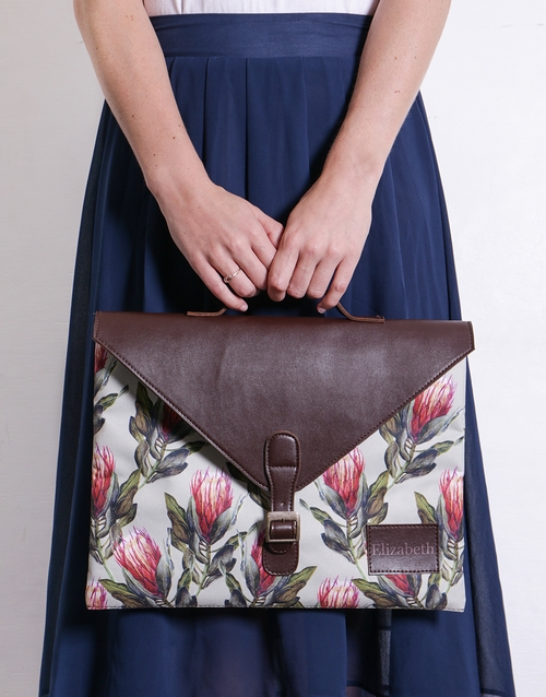 spring-day: Personalised Protea Laptop Carry Bag!