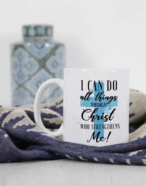 prices: Personalised All Things Through Christ Mug!