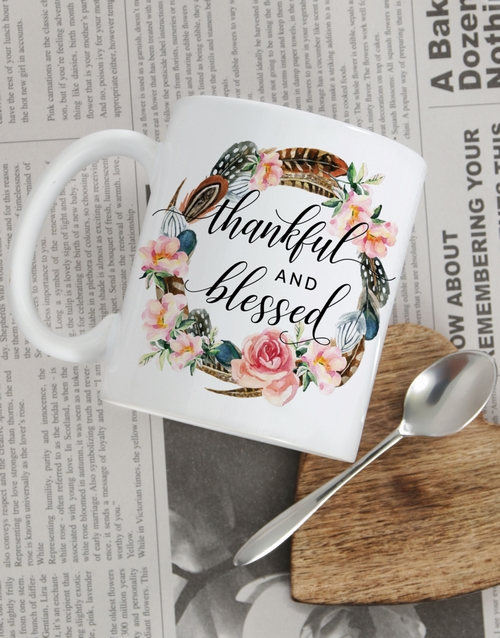 prices: Personalised Thankful and Blessed Mug!