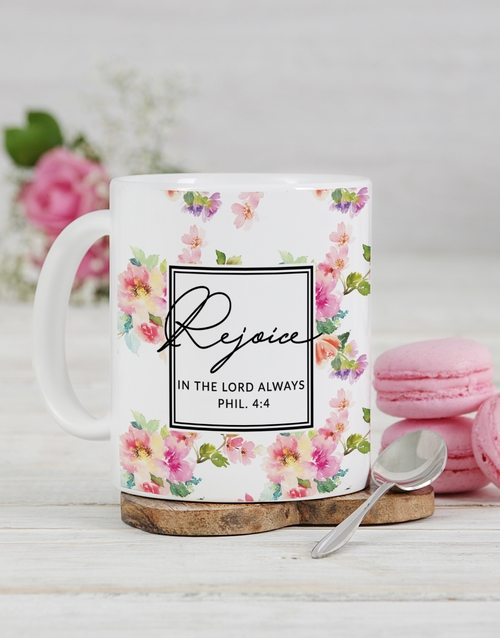 prices: Personalised Rejoice in the Lord Mug!