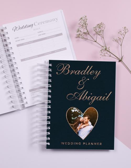 christmas: Personalised Heart Wedding Journal!