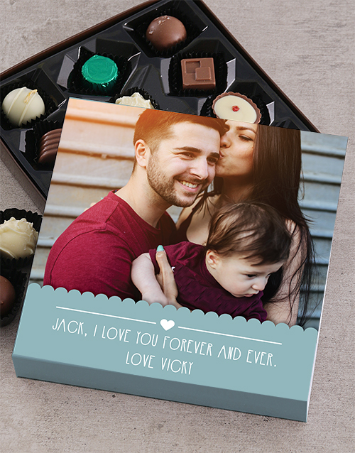 prices: Personalised Love Photo Choc Tray!