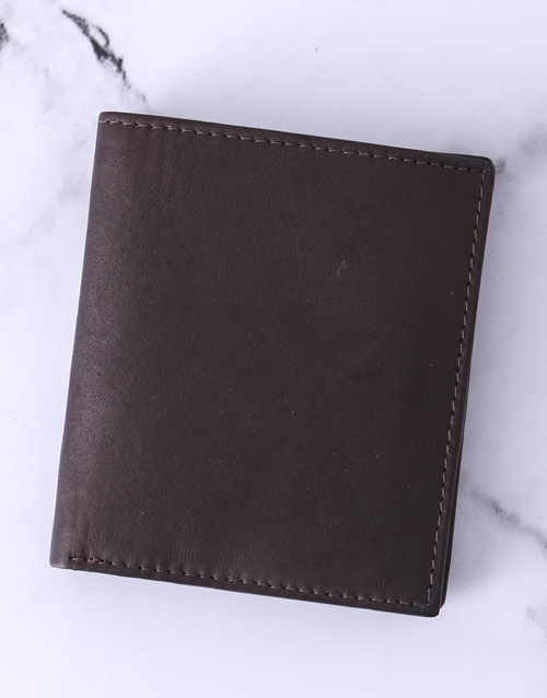 fathers-day: Personalised Brown Busby Gents Wallet!