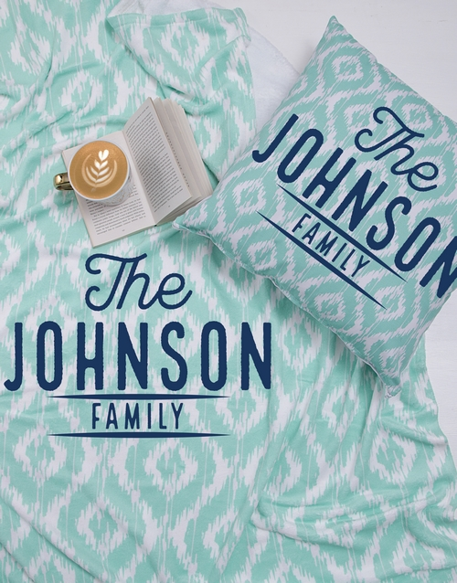 christmas: Personalised Family Blanket or Cushion!