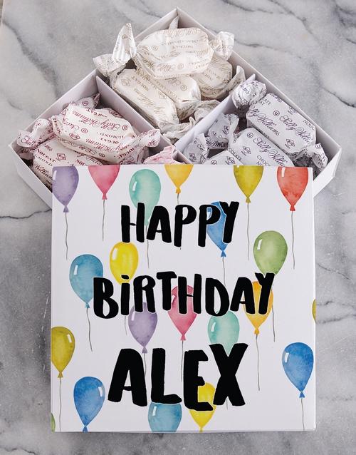 personalised: Personalised Happy Birthday Sally Williams Nougat!