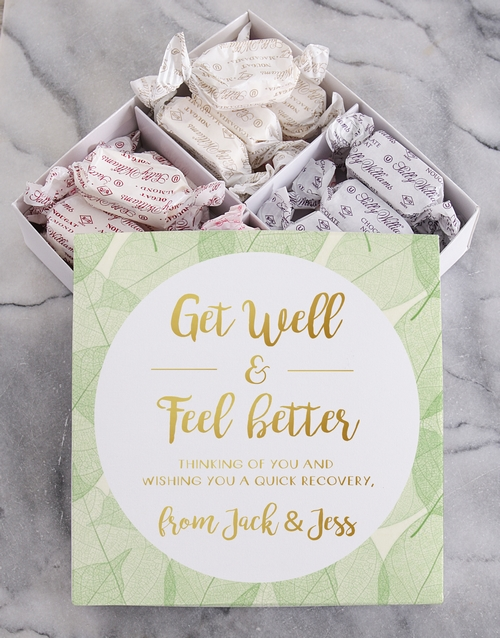 gifts: Personalised Get Well Sally Williams Nougat Box!