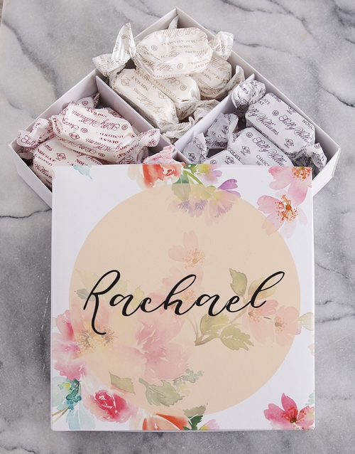 personalised: Personalised Floral Sally Williams Nougat Box!