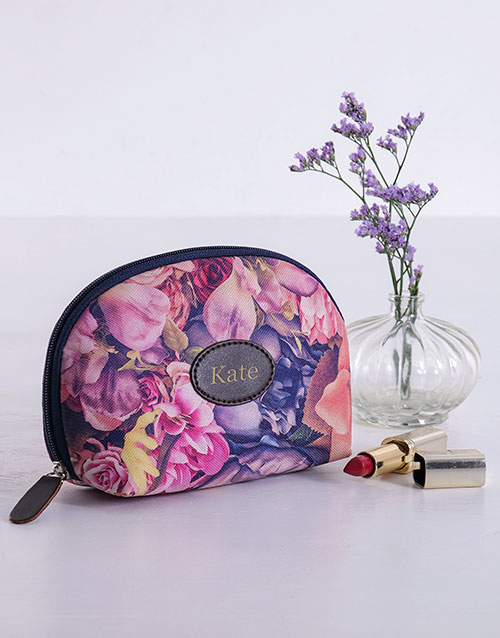 year-end: Personalised Watercolour Floral Cosmetic Bag!