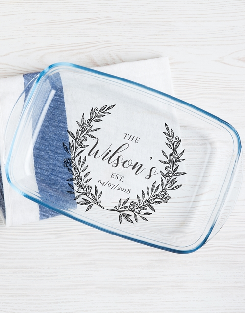 gifts: Personalised Family Wreath Dish!