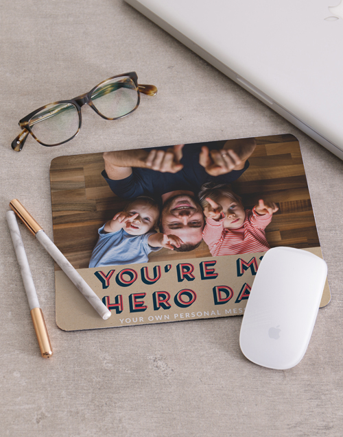 fathers-day: Personalised My Hero Mouse Pad!