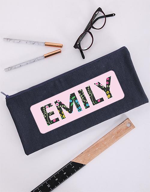 pencil-cases: Personalised Danty Floral Pencil Bag!