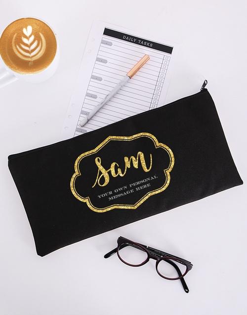 personalised: Personalised Glam Scroll Pencil Bag!