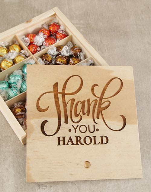 personalised: Personalised Thank You Choc Treasure Box!