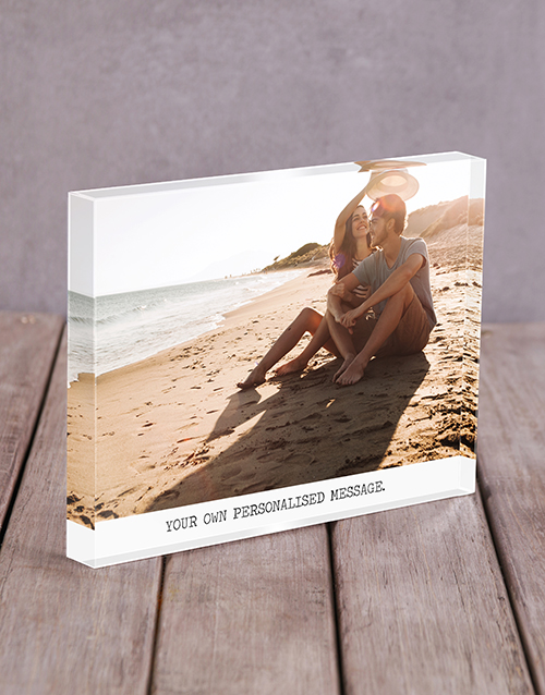 new-years: Personalised Message Acrylic Block!