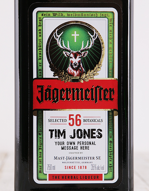 fine-alcohol: Personalised Jagermeister!