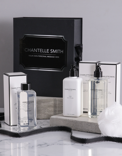 year-end: Personalised Charlotte Rhys Bath Gift Box!