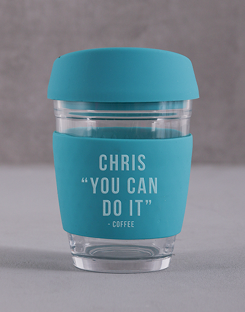 personalised: Personalised You Can Do It Travel Mug!