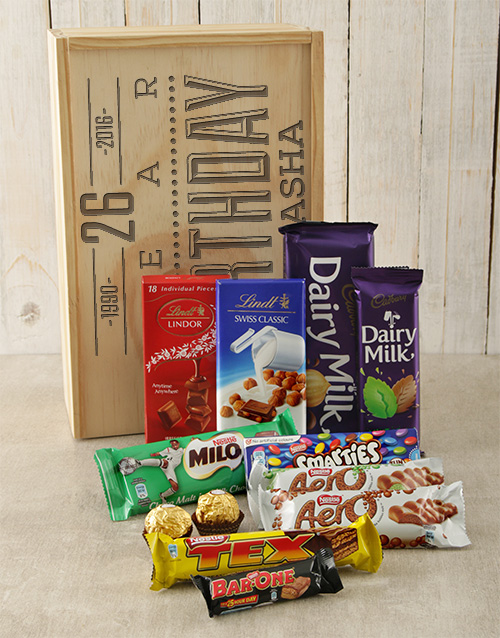 discovery: Personalised Birthday Chocolate Crate!