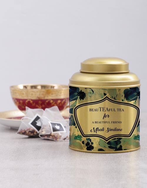coffee-and-tea: Personalised Beautiful Friend Tea Tin !