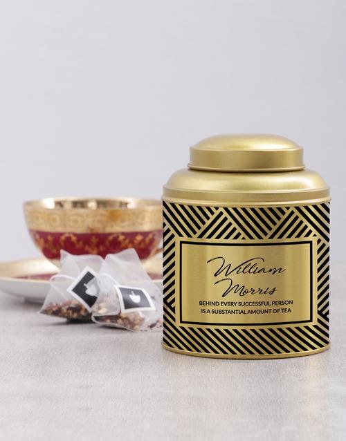 coffee-and-tea: Personalised Successful Person Tea Tin!