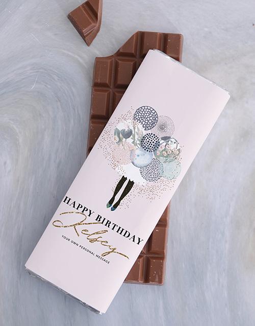 discovery: Personalised Birthday Chocolate Slab!