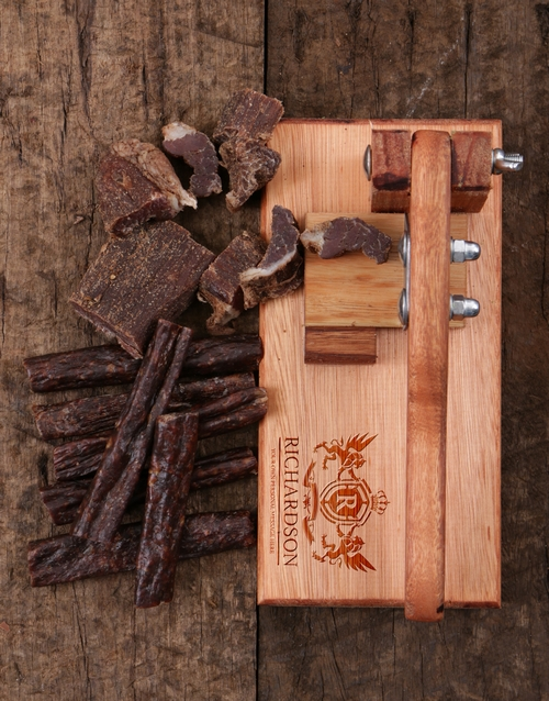 anniversary: Personalised Crest Biltong Cutter!