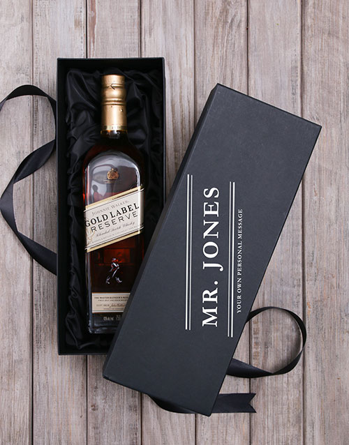 bosses-day: Personalised Johnnie Walker Whisky Box!