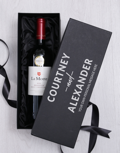 christmas: Personalised Love Wine Giftbox!