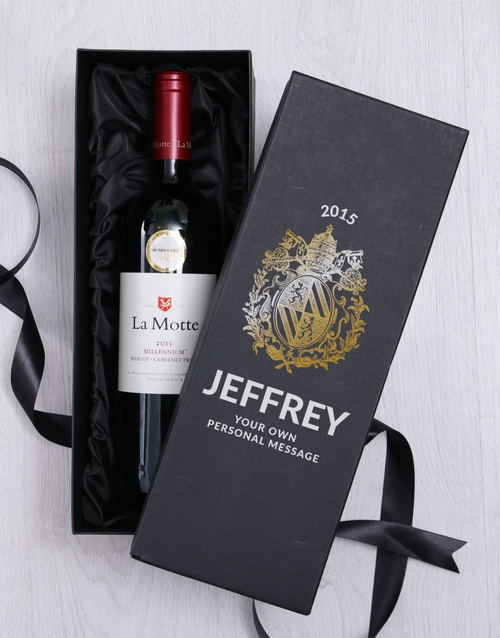 new-years: Personalised Crest Wine Giftbox!