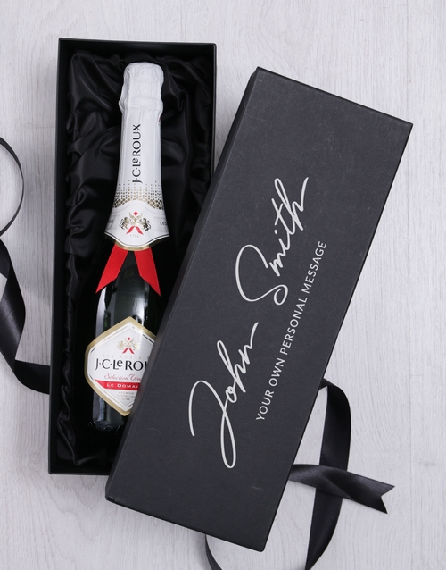 personalised: Personalised Signature Bubbly Giftbox!