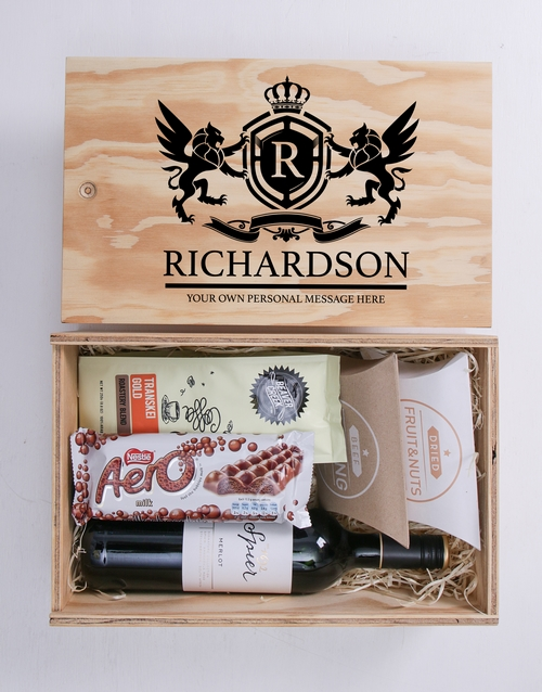 christmas: Personalised Coat of Arms Man Crate!