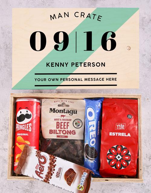 anniversary: Personalised Date Man Crate!