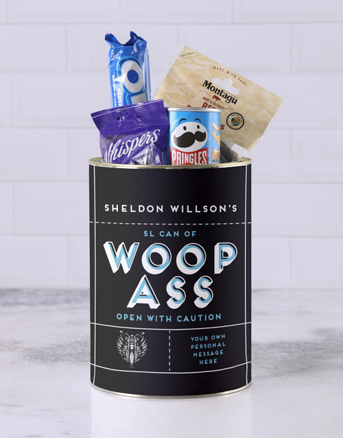 fathers-day: Personalised Can of Woop Ass!