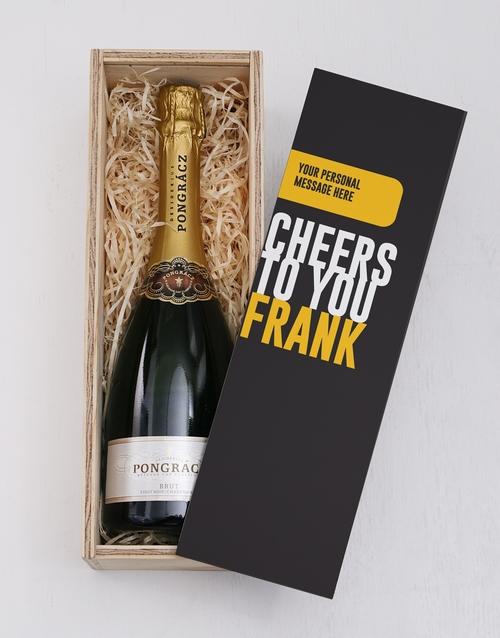 personalised: Personalised Cheers Printed Crate!