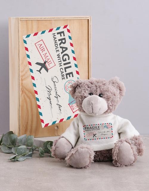 teddy-bears: Personalised Mail Teddy in Box!