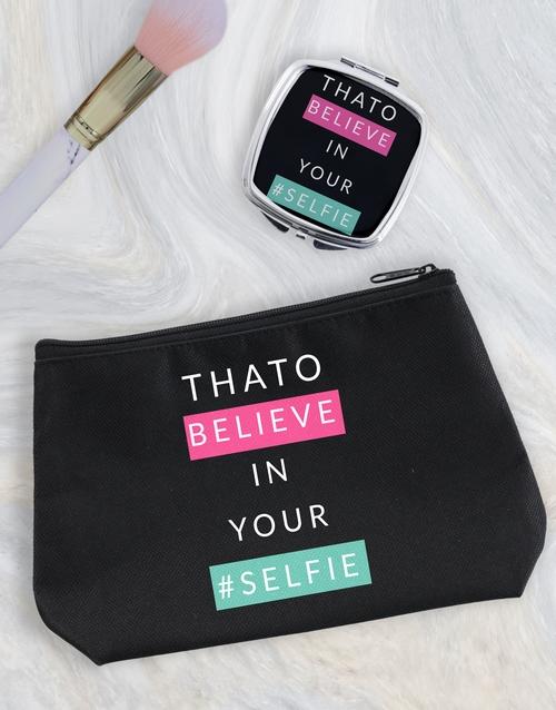 christmas: Personalised Selfie Cosmetic Bag!