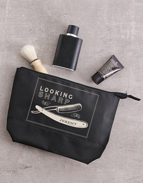 gifts: Personalised Looking Sharp Gents Wash Bag!