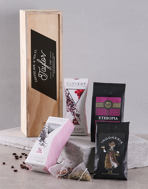 coffee: Personalised Coffee Ave and Tea St in Crate!