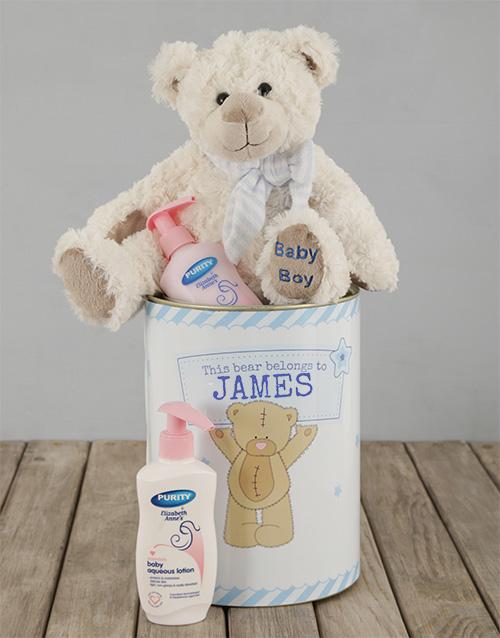 personalised: Personalised Baby Boy Tin!