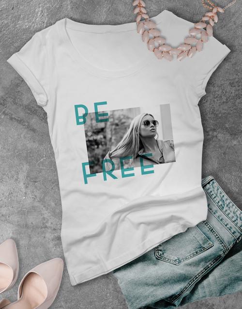 clothing: Ladies Contemporary Be Free Tshirt!