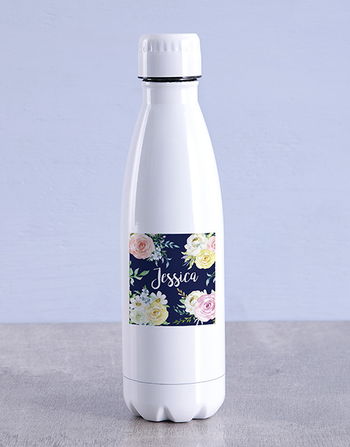 mothers-day: Personalised Floral Water Bottle!