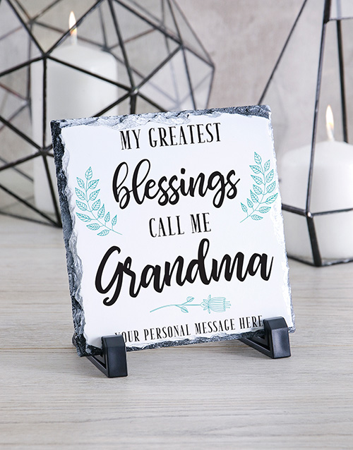 home-decor: Personalised Grandma Glass And Stone Tiles!