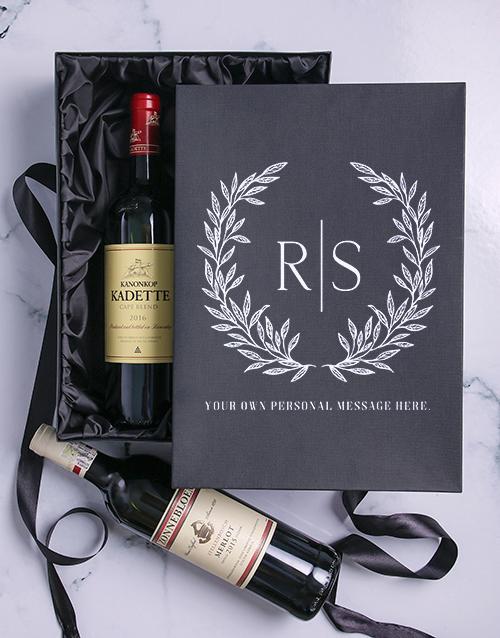 valentines-day: Laurel Personalised Wine Duo Giftbox!
