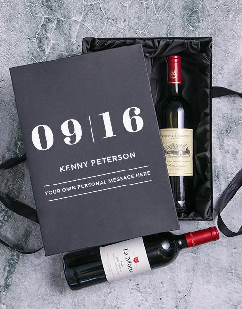 christmas: Date Personalised Wine Duo Giftbox!