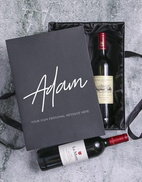 valentines-day: Personalised Wine Duo Giftbox!