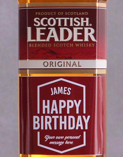 personalised: Personalised Birthday Scottish Leader!
