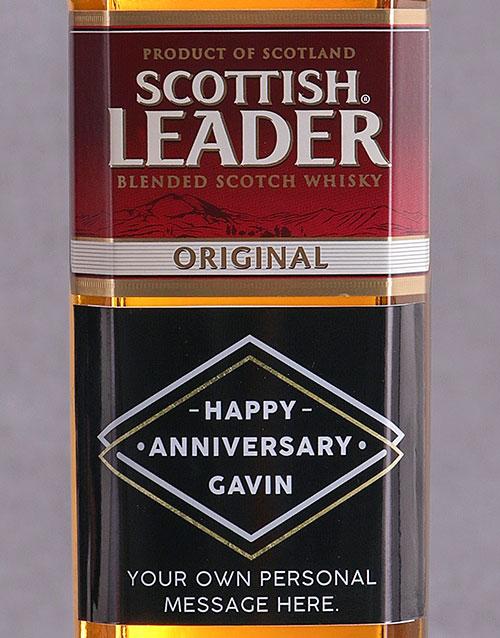 fine-alcohol: Personalised Anniversary Scottish Leader!